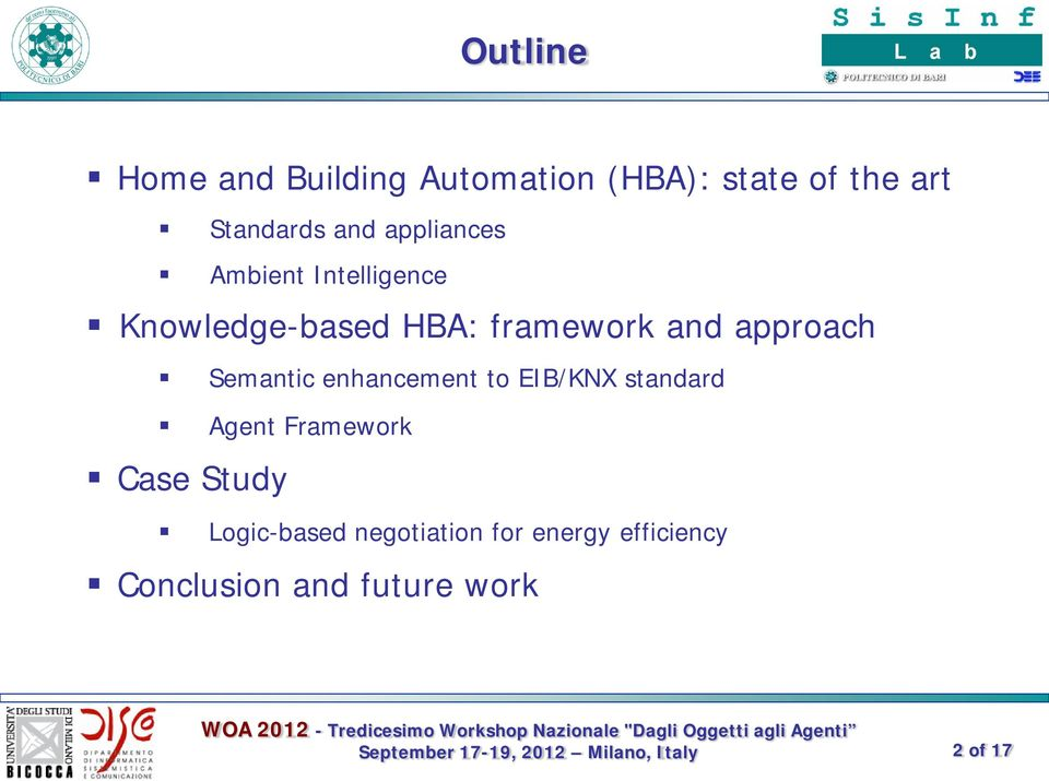 approach Semantic enhancement to EIB/KNX standard Agent Framework Case
