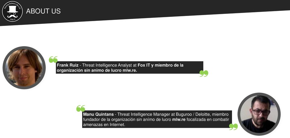 Manu Quintans - Threat Intelligence Manager at Buguroo / Deloitte,