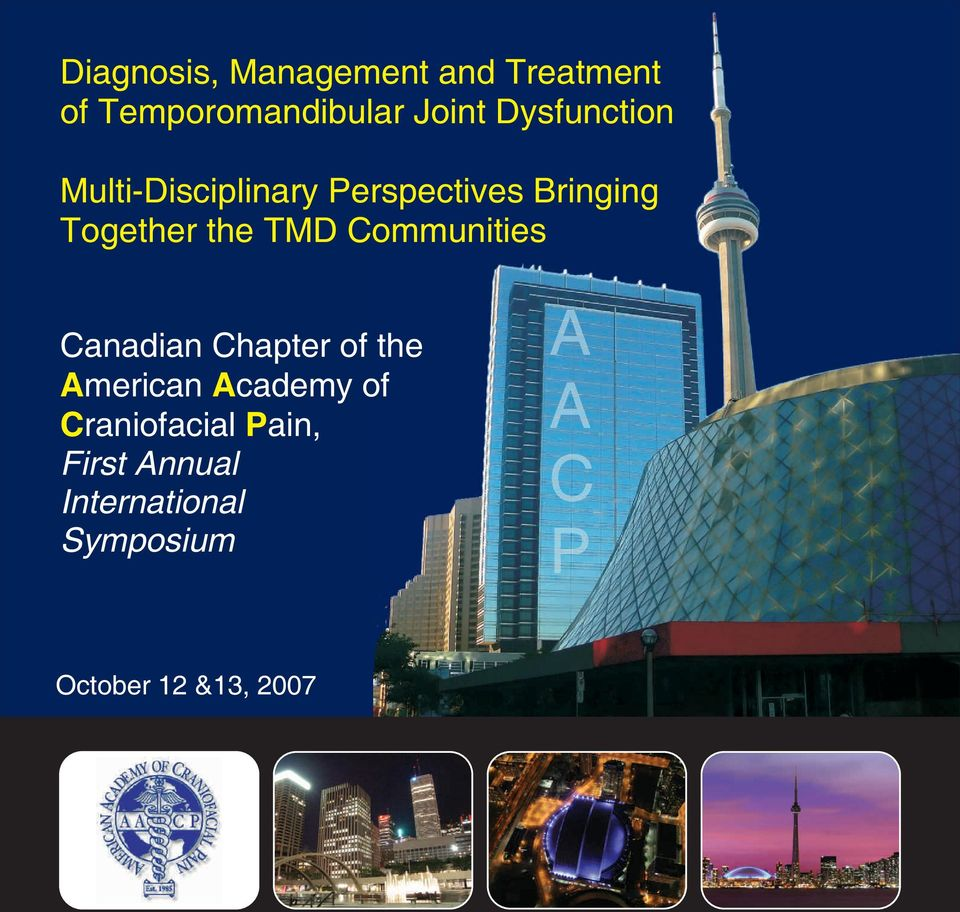 TMD Communities Canadian Chapter of the American Academy of