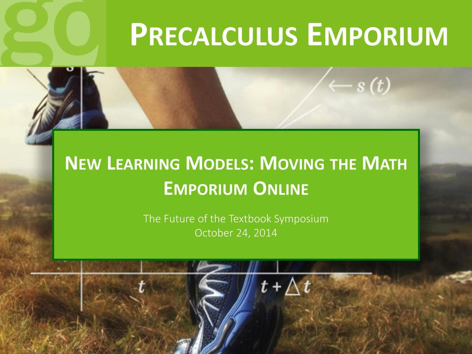 MATH EMPORIUM ONLINE The Future