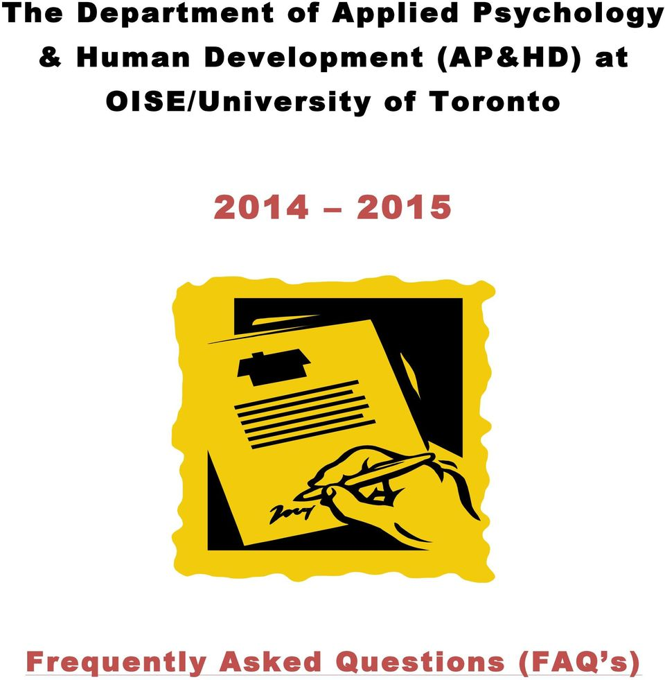 (AP&HD) at OISE/University of