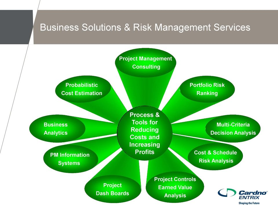 Systems Process & Tools for Reducing Costs and Increasing Profits Multi-Criteria
