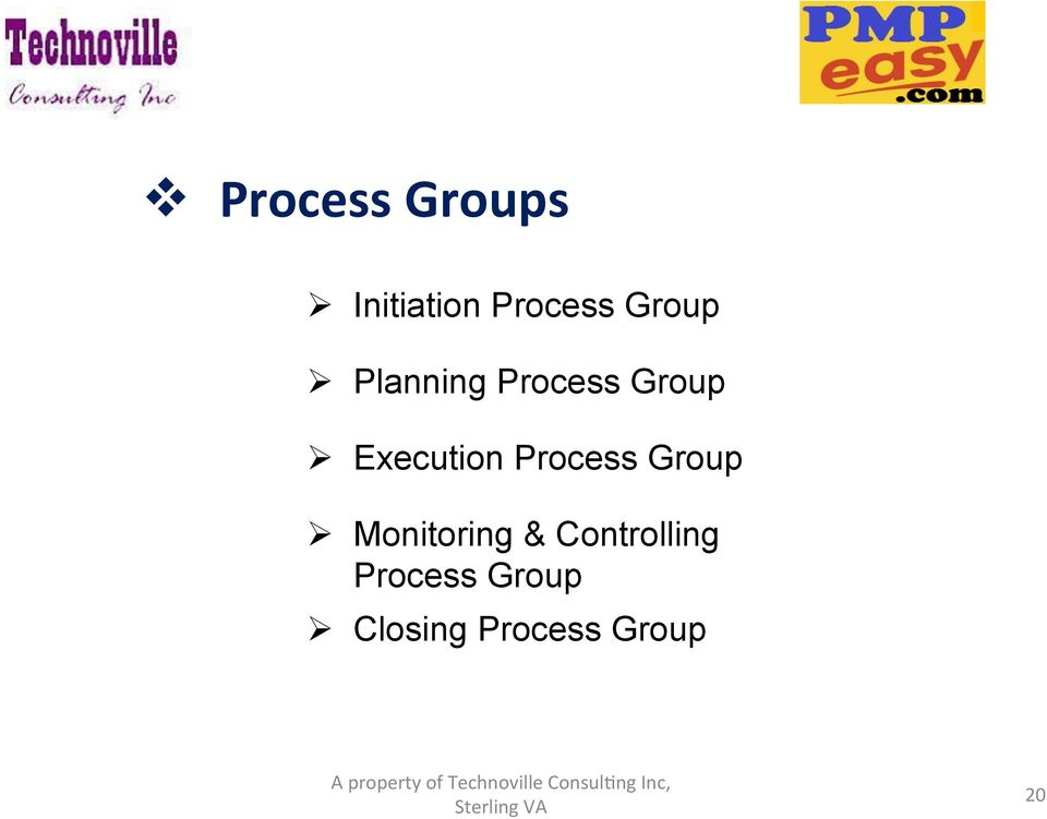 Execution Process Group Monitoring &