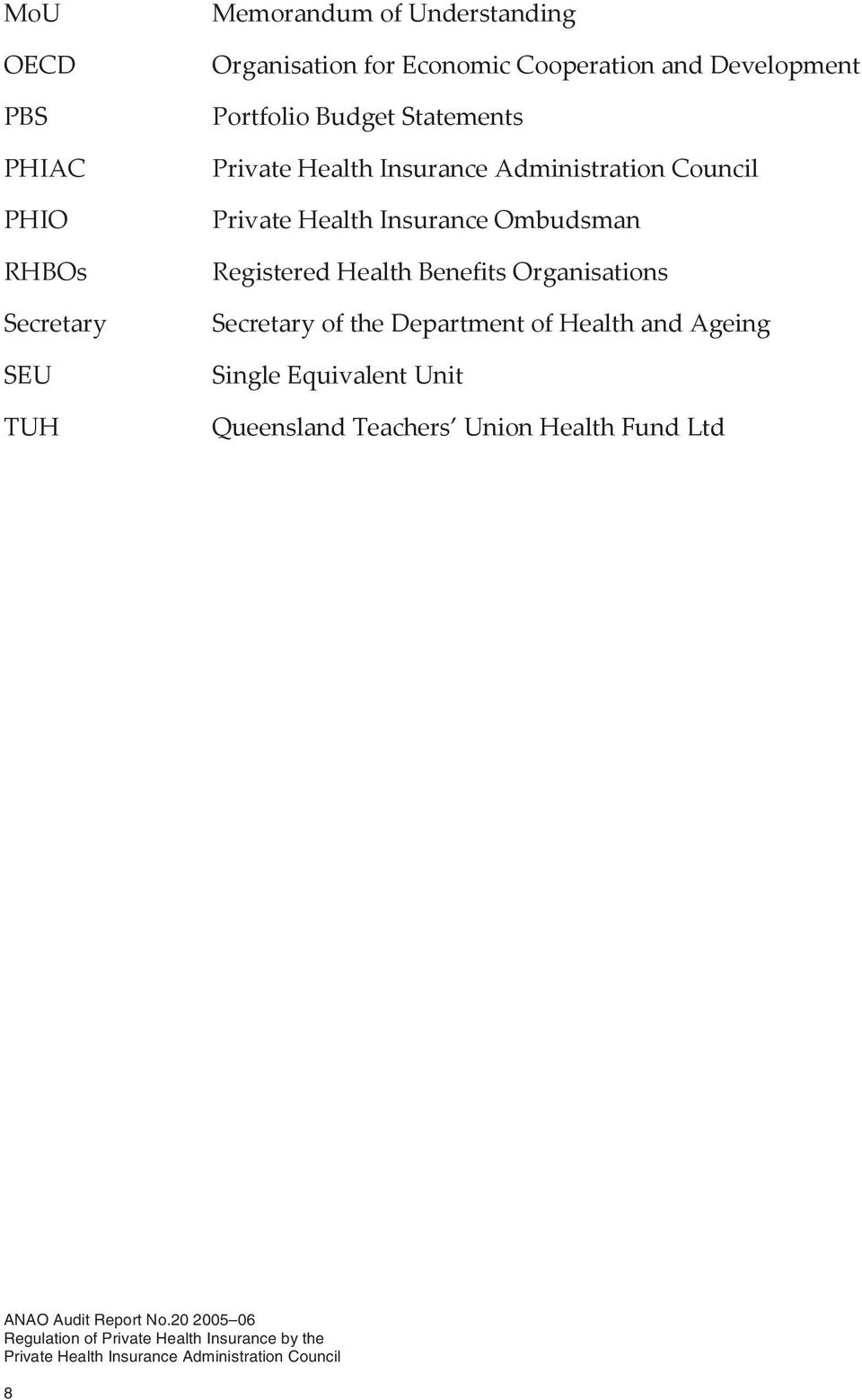 Private Health Insurance Ombudsman Registered Health Benefits Organisations Secretary