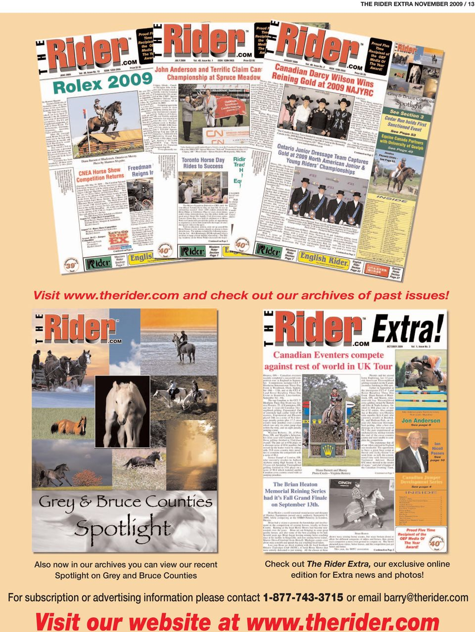 Rider Extra, our exclusive online edition for Extra news and photos!