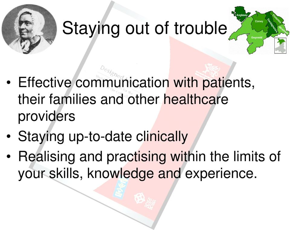 Staying up-to-date clinically Realising and practising