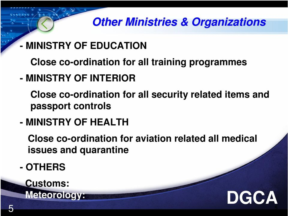 security related items and passport controls - MINISTRY OF HEALTH Close
