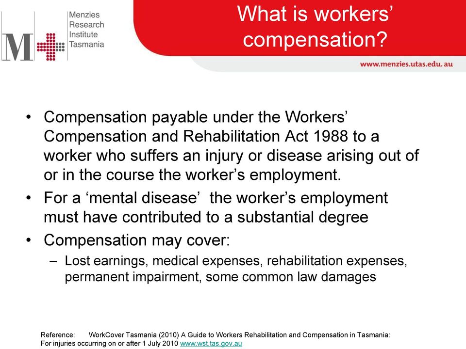course the worker s employment.