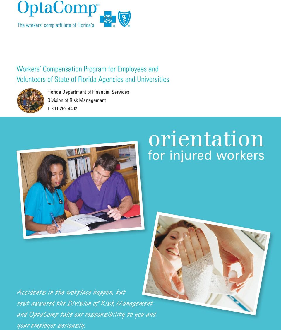 1-800-262-4402 orientation for injured workers Accidents in the wokplace happen, but rest