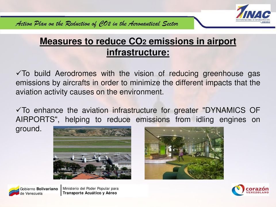 impacts that the aviation activity causes on the environment.