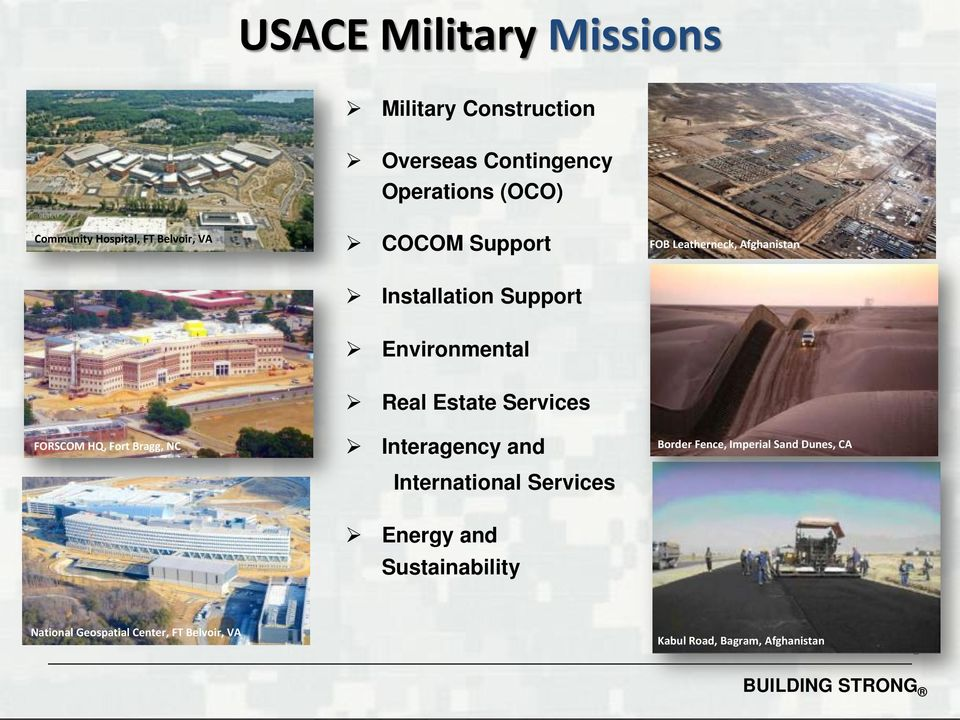 Services FORSCOM HQ, Fort Bragg, NC Interagency and International Services Border Fence, Imperial Sand