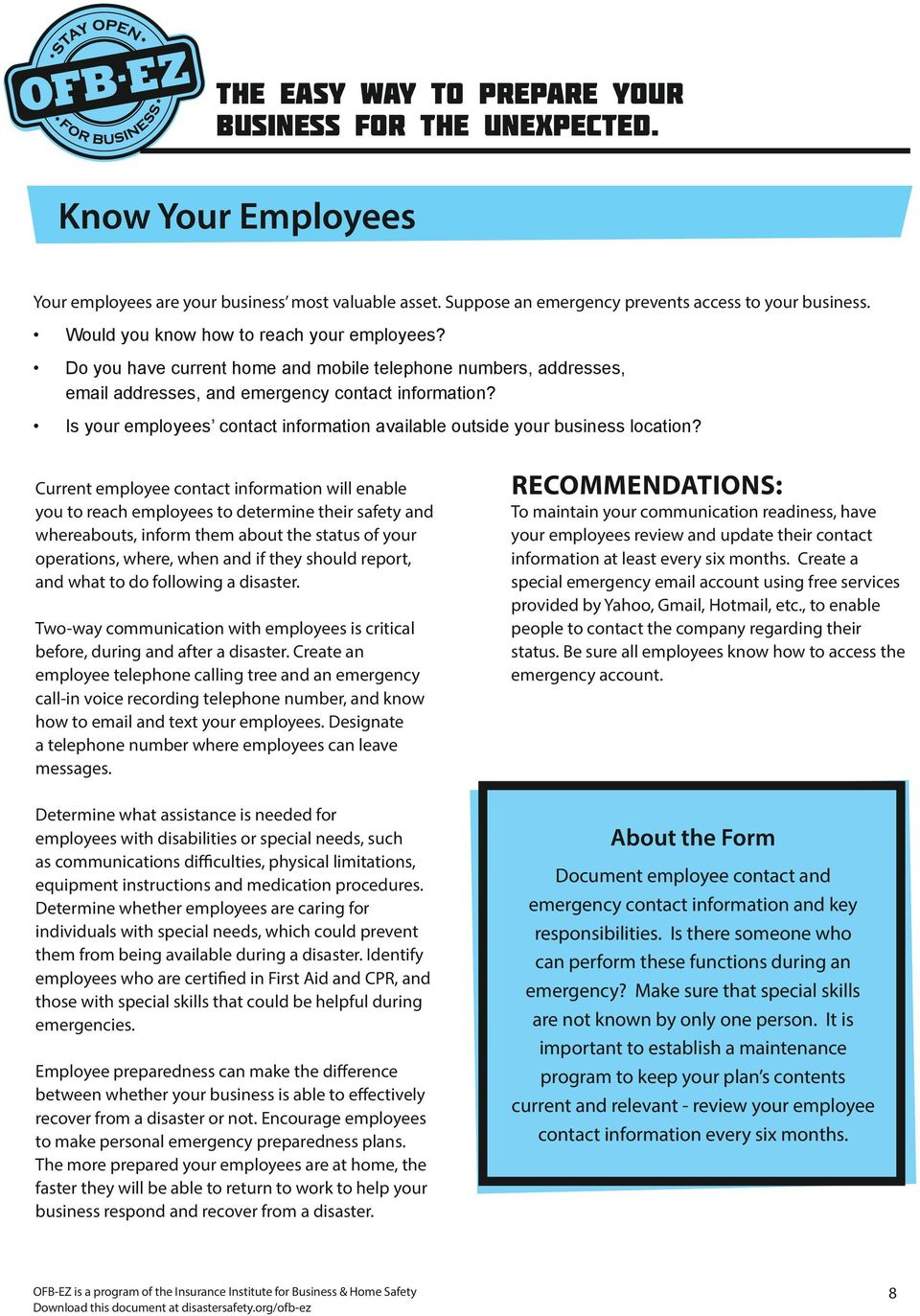Is your employees contact information available outside your business location?