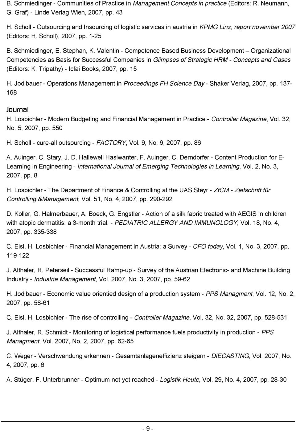 Valentin - Competence Based Business Development Organizational Competencies as Basis for Successful Companies in Glimpses of Strategic HRM - Concepts and Cases (Editors: K.