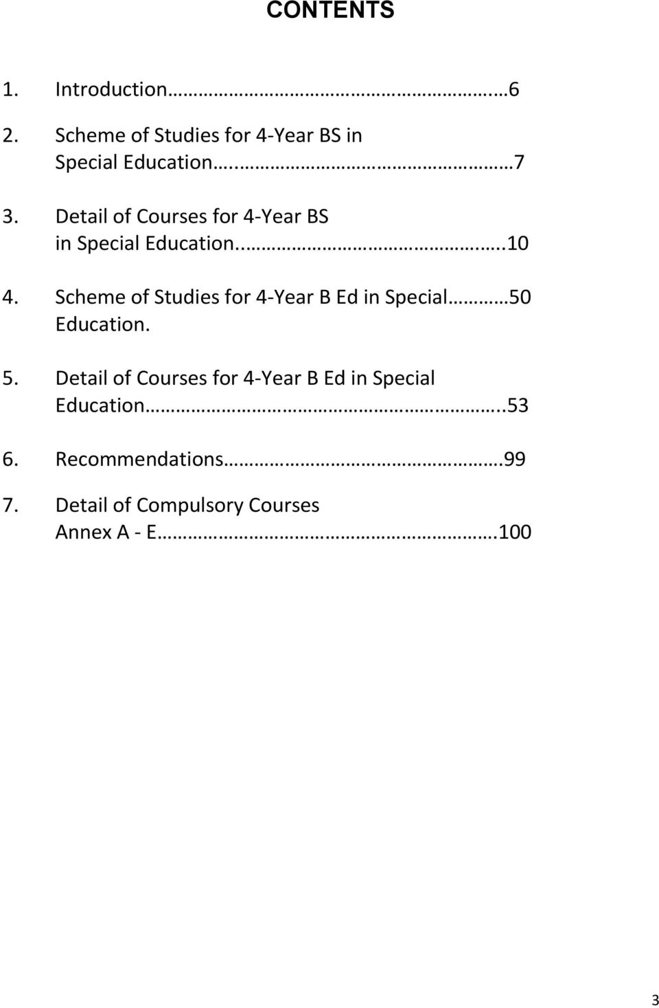 Scheme of Studies for 4-Year B Ed in Special 50