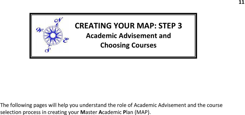 understand the role of Academic Advisement and the