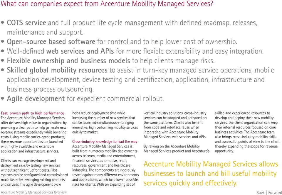 Flexible ownership and business models to help clients manage risks.