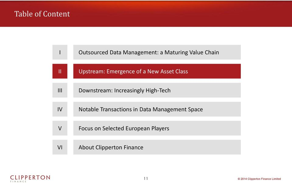 Increasingly High-Tech IV Notable Transactions in Data Management
