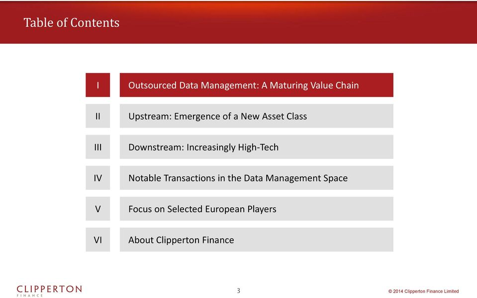 Increasingly High-Tech IV Notable Transactions in the Data