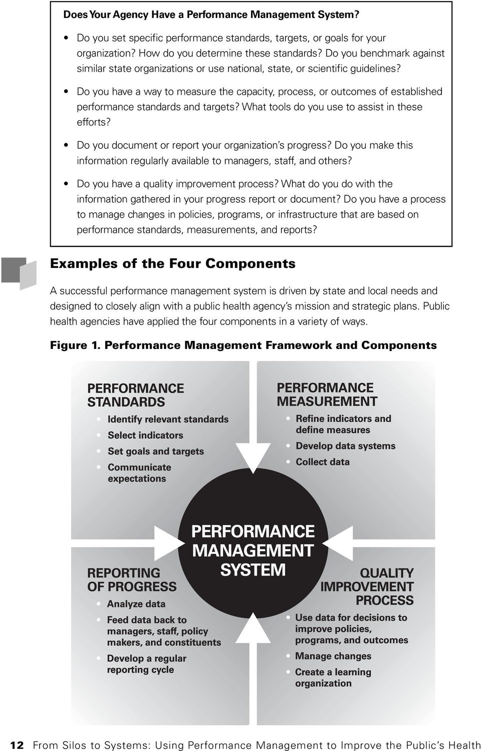 Do you have a way to measure the capacity, process, or outcomes of established performance standards and targets? What tools do you use to assist in these efforts?