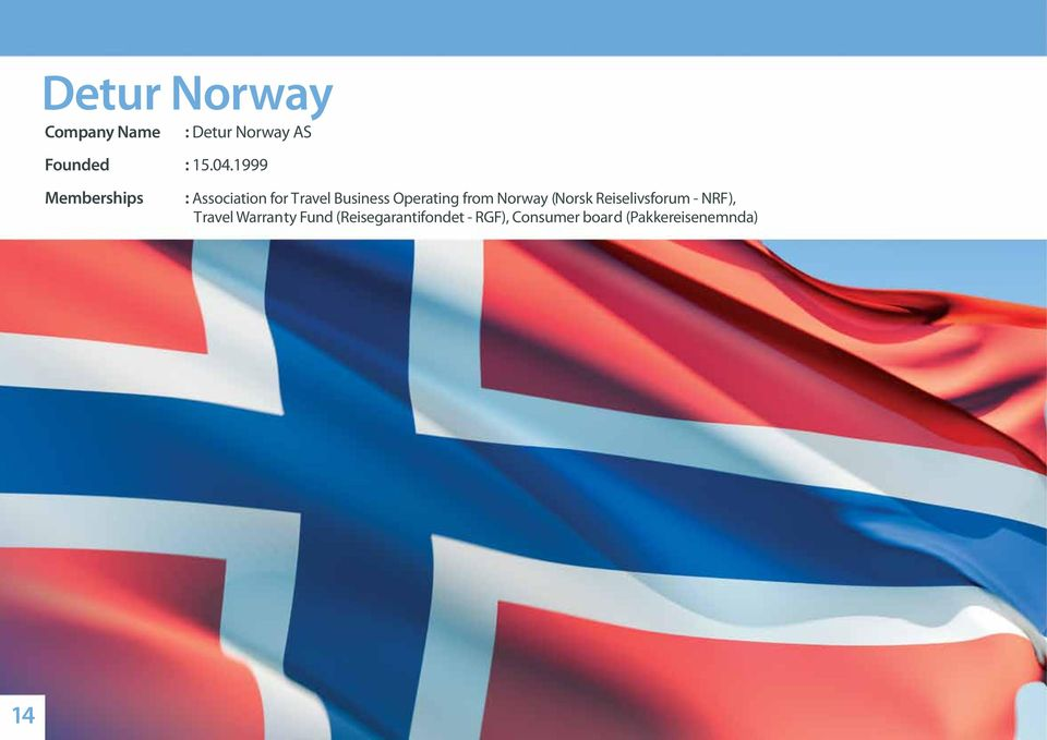 from Norway (Norsk Reiselivsforum - NRF), Travel Warranty