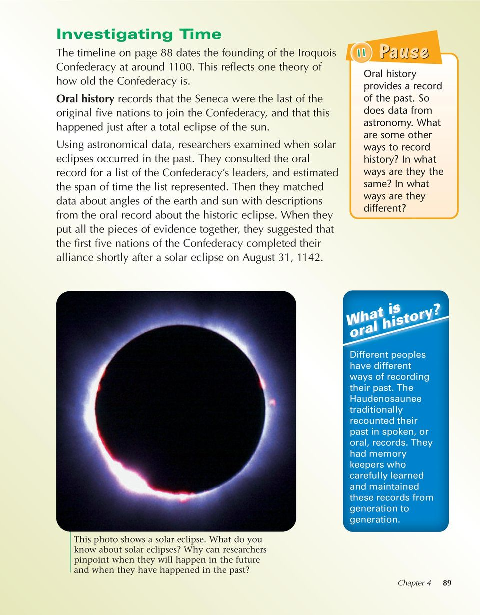 Using astronomical data, researchers examined when solar eclipses occurred in the past.