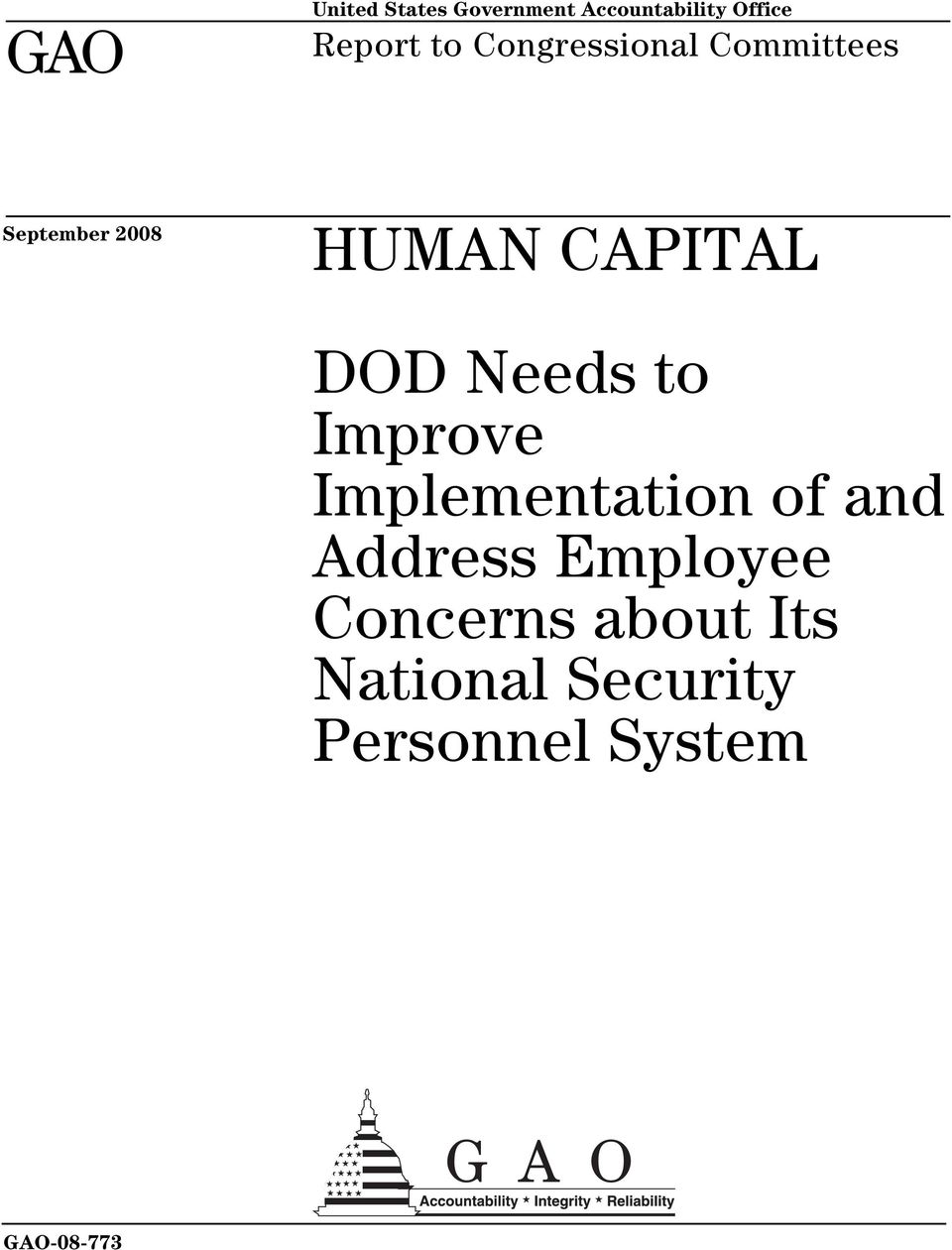 DOD Needs to Improve Implementation of and Address