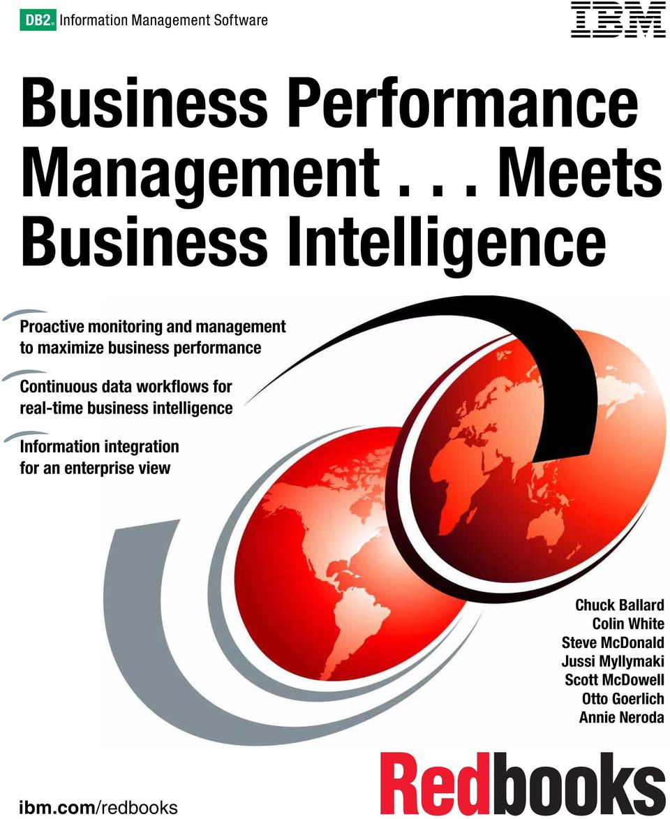 performance Continuous data workflows for real-time business intelligence Information