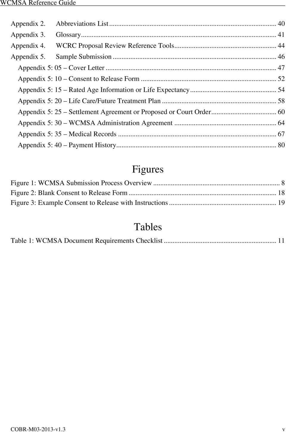 .. 58 Appendix 5: 25 Settlement Agreement or Proposed or Court Order... 60 Appendix 5: 30 WCMSA Administration Agreement... 64 Appendix 5: 35 Medical Records... 67 Appendix 5: 40 Payment History.
