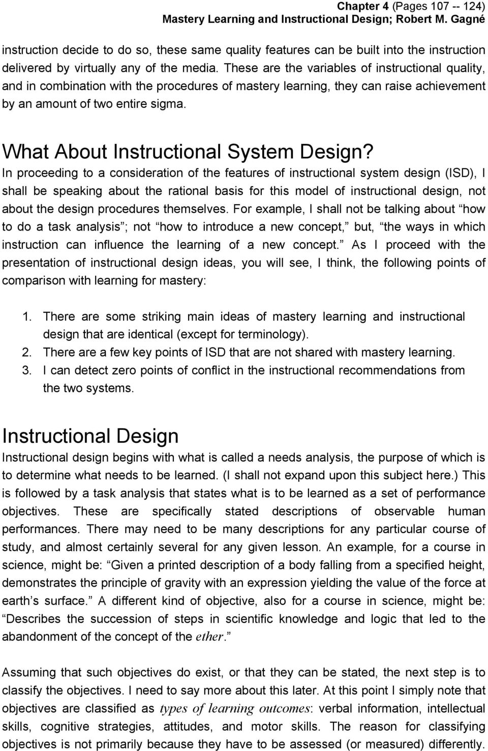 What About Instructional System Design?