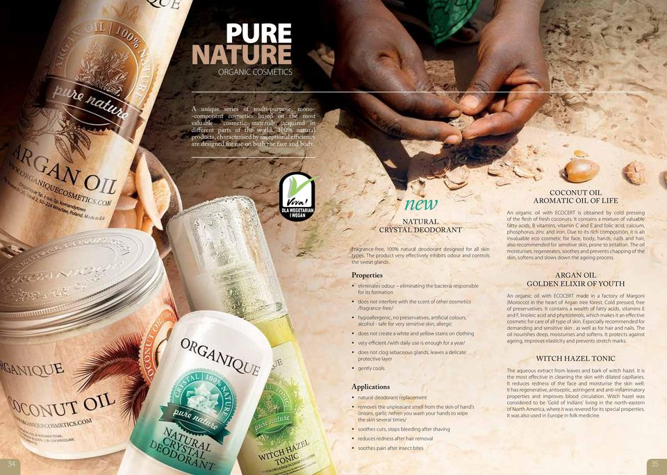 DLA WEGETARIAN I WEGAN DLA WEGETARIAN new NATURAL Crystal DEODORANT Fragrance-free, 100% natural deodorant designed for all skin types.