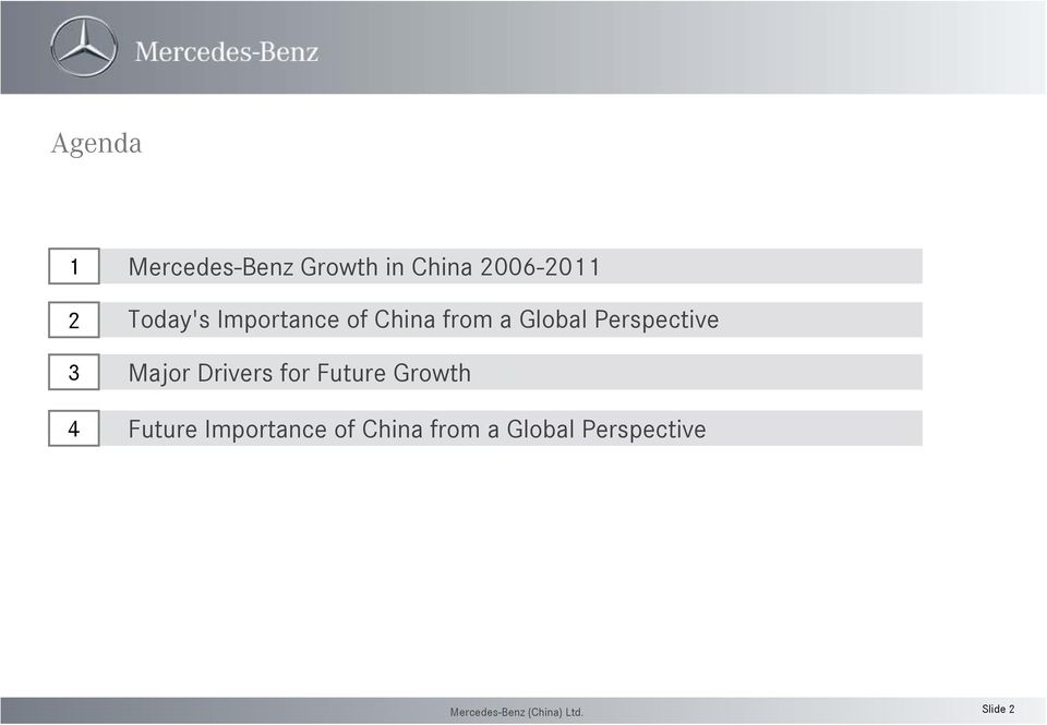 Global Perspective Major Drivers for Future Growth