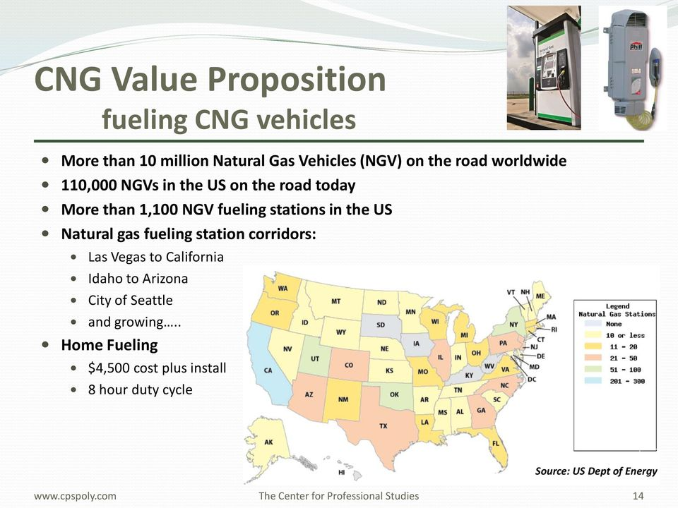 Natural gas fueling station corridors: Las Vegas to California Idaho to Arizona City of