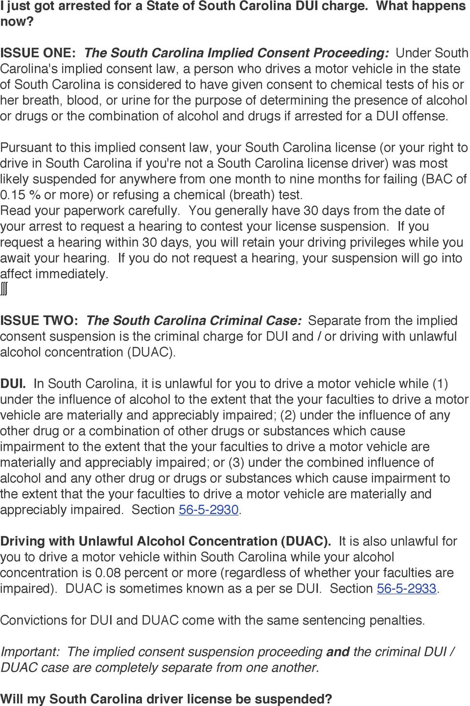 consent to chemical tests of his or her breath, blood, or urine for the purpose of determining the presence of alcohol or drugs or the combination of alcohol and drugs if arrested for a DUI offense.