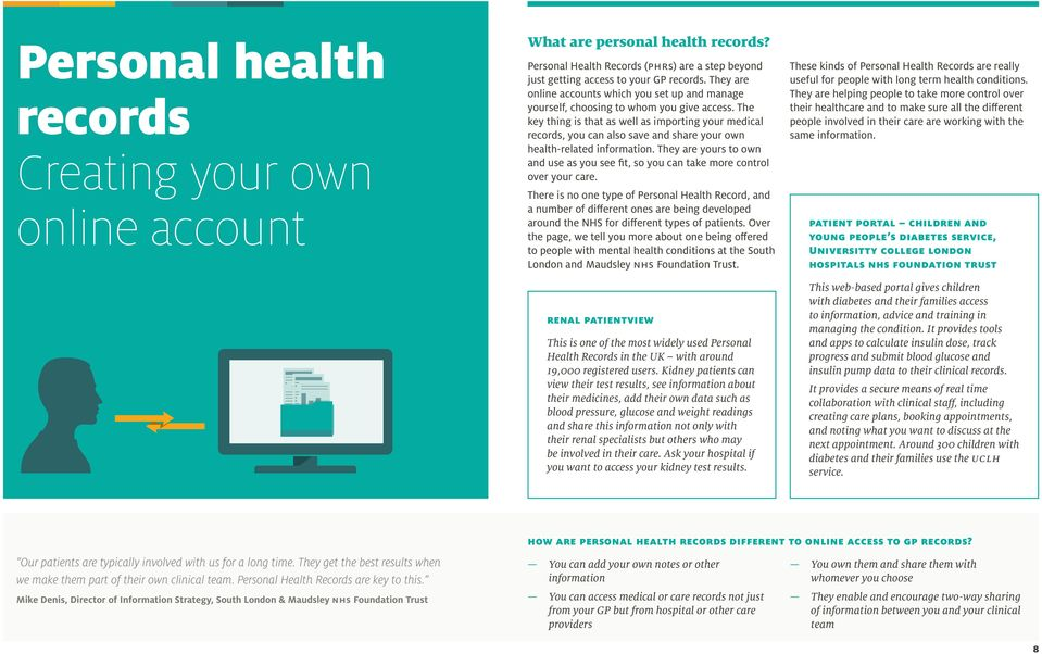 The key thing is that as well as importing your medical records, you can also save and share your own health-related information.