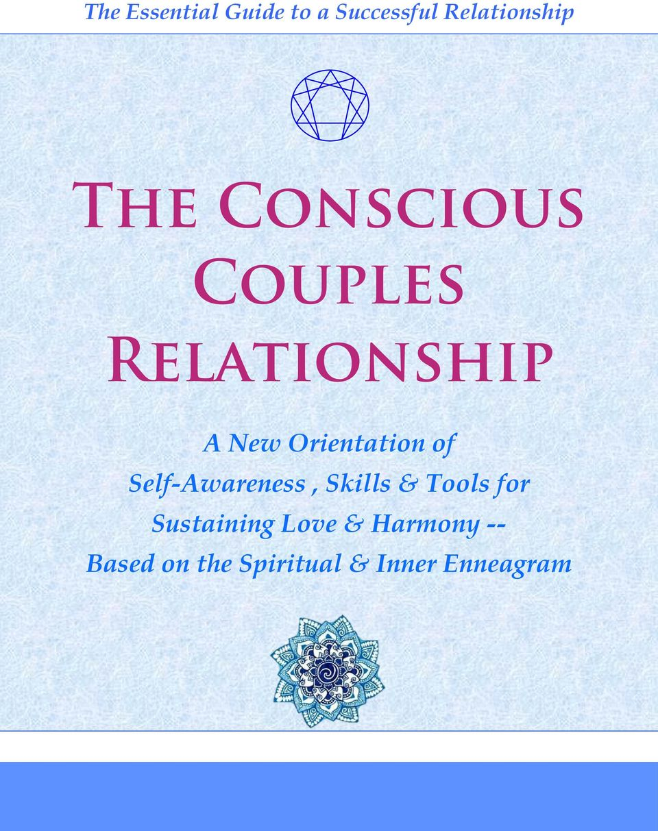 of Self-Awareness, Skills & Tools for Sustaining Love