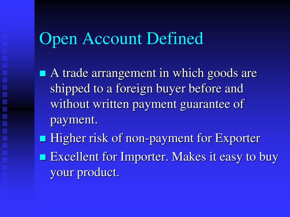payment guarantee of payment.
