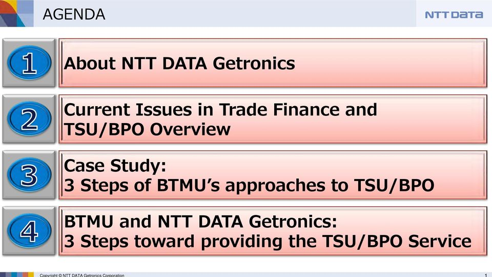 Overview Case Study: 3 Steps of BTMU s approaches to /BPO