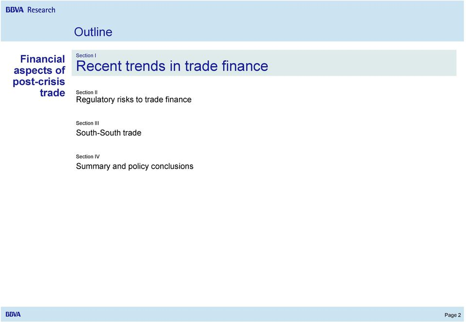 Regulatory risks to trade finance Section III
