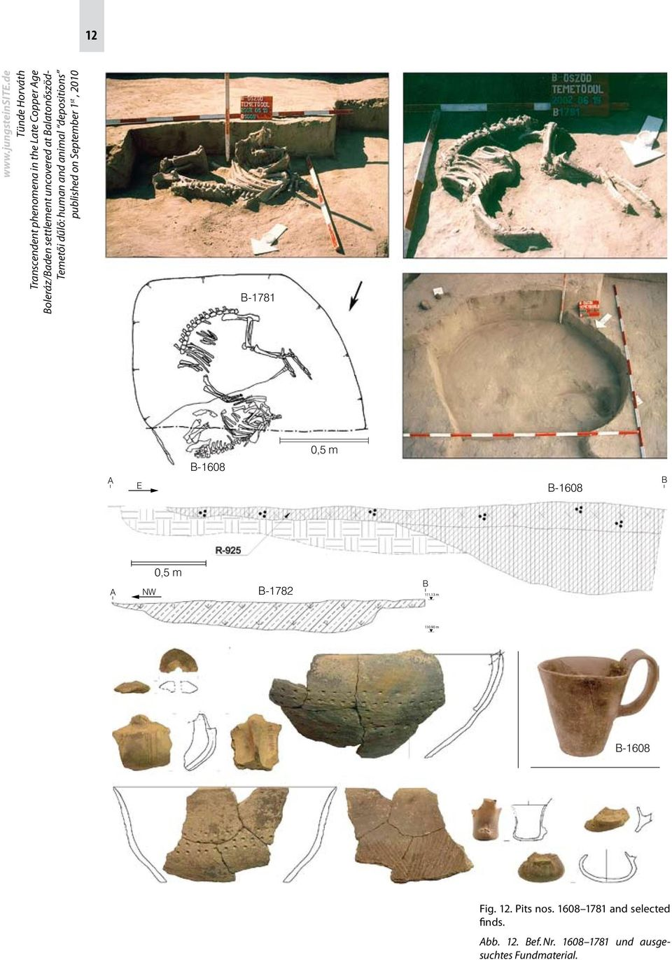Pits nos. 1608 1781 and selected finds. Abb.
