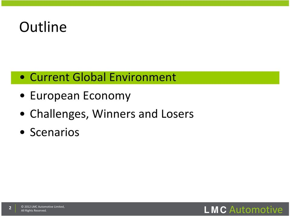and Losers Scenarios 2 2012 LMC