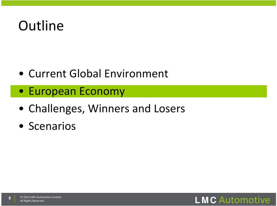 and Losers Scenarios 9 2012 LMC
