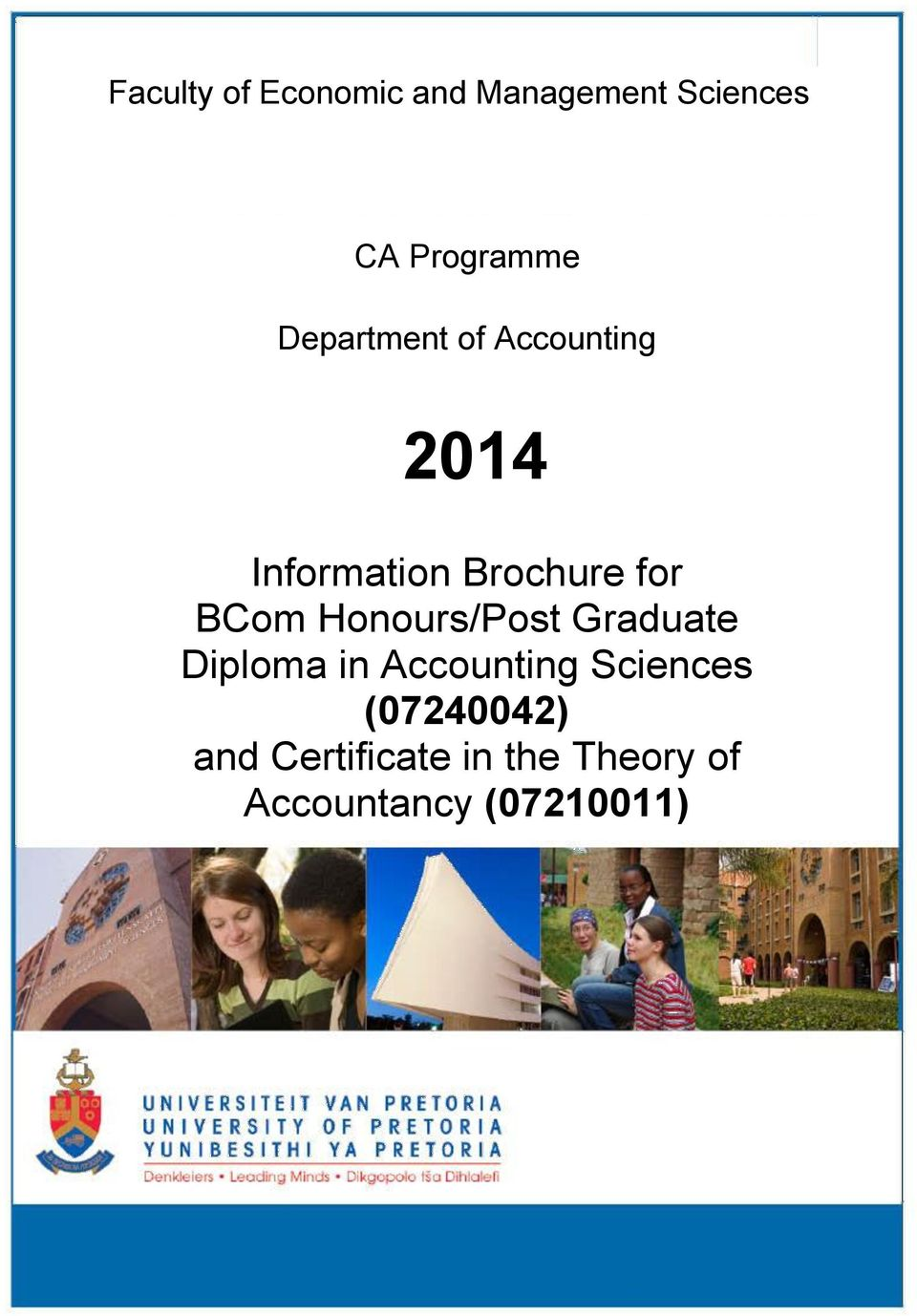 BCom Honours/Post Graduate Diploma in Accounting Sciences