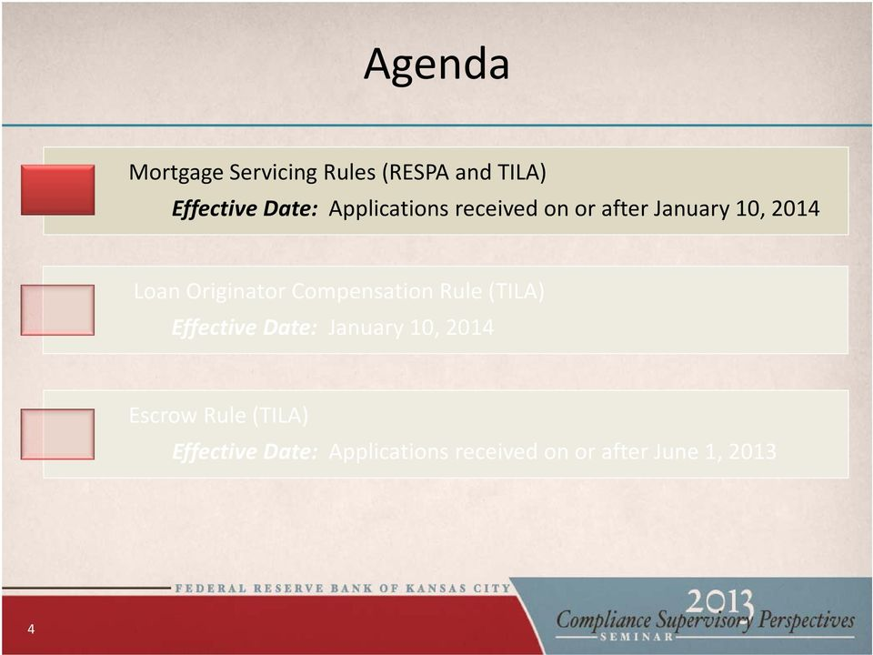 Compensation Rule (TILA) Effective Date: January 10, 2014 Escrow