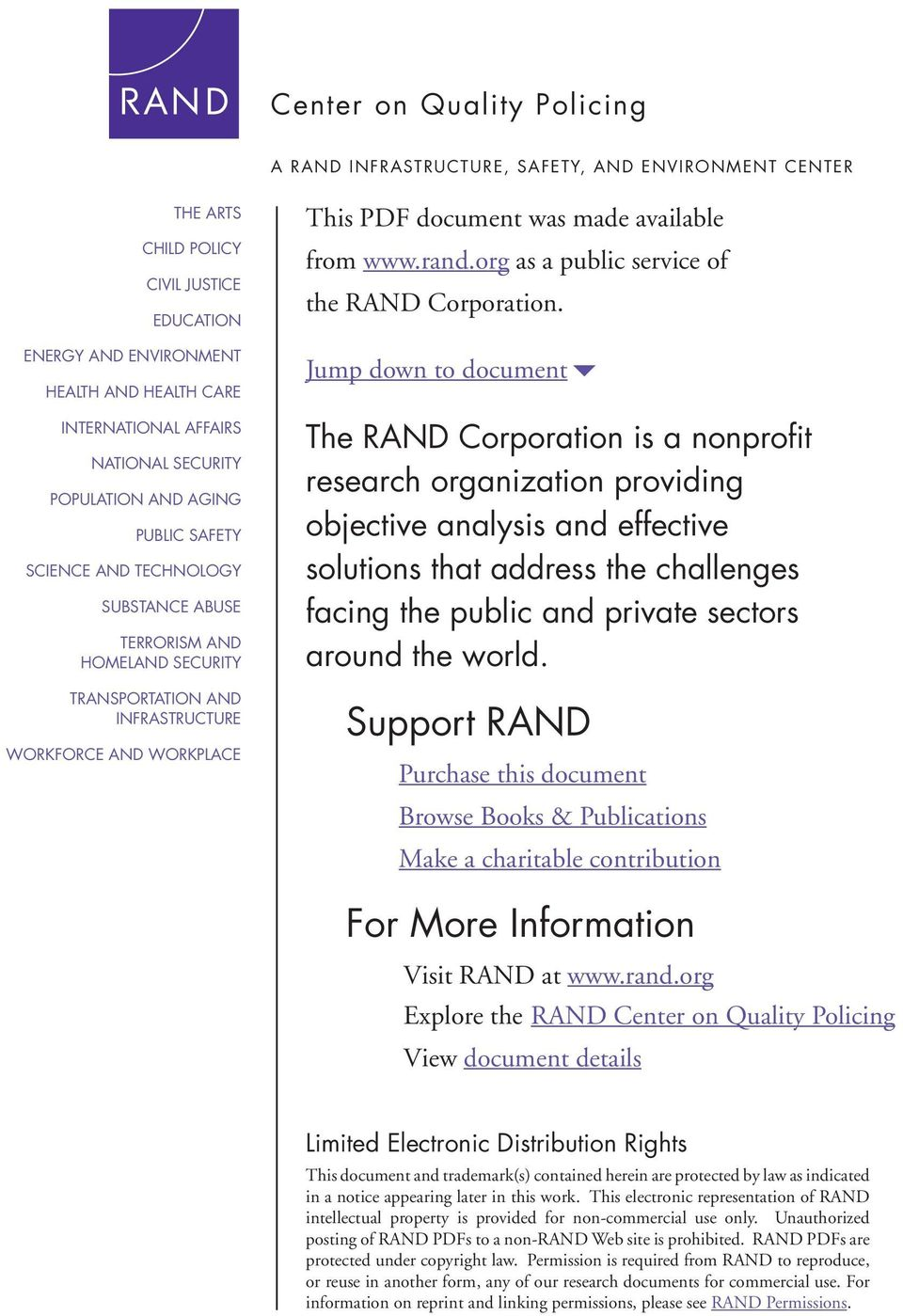 was made available from www.rand.org as a public service of the RAND Corporation.