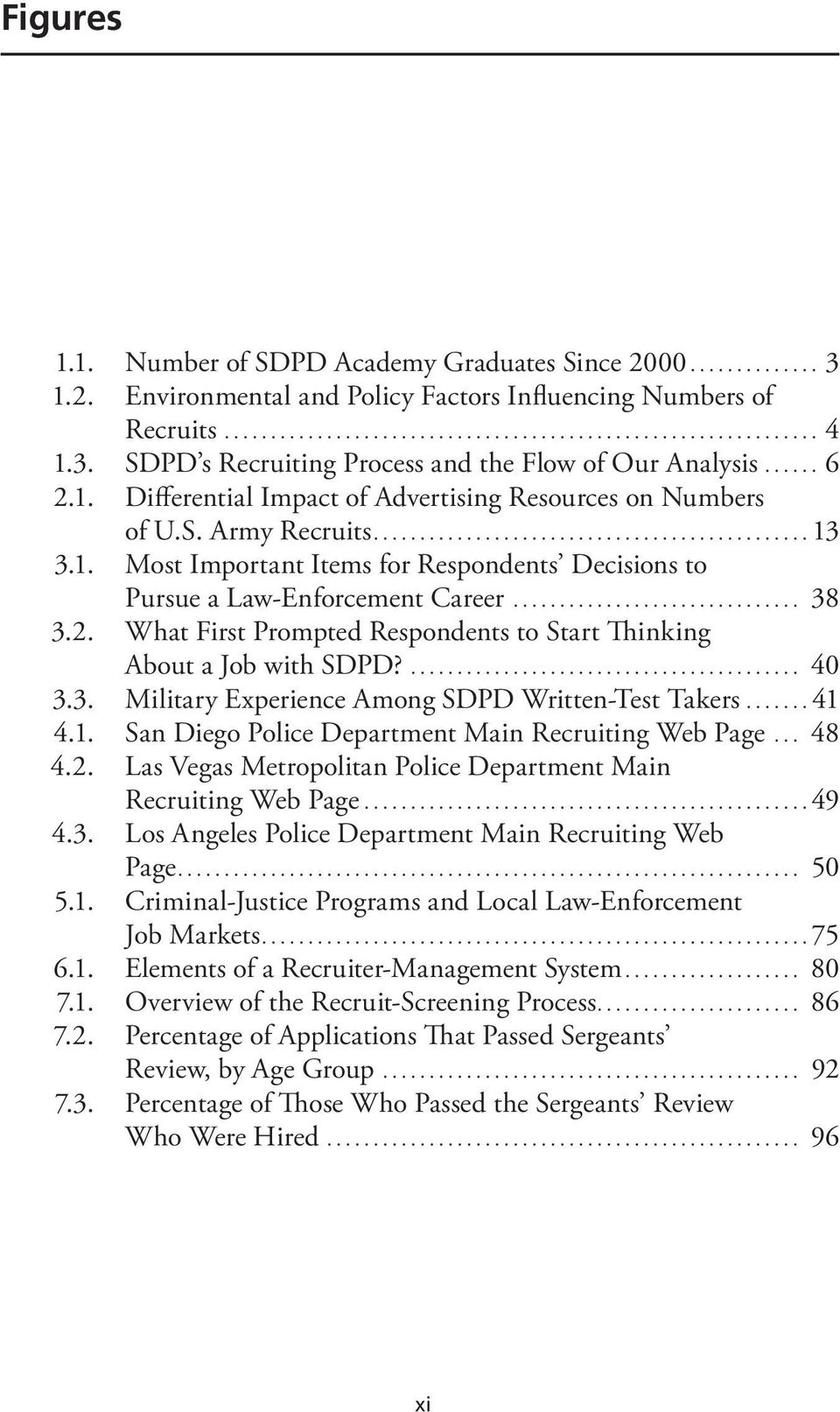 ... 40 3.3. Military Experience Among SDPD Written-Test Takers...41 4.1. San Diego Police Department Main Recruiting Web Page... 48 4.2.