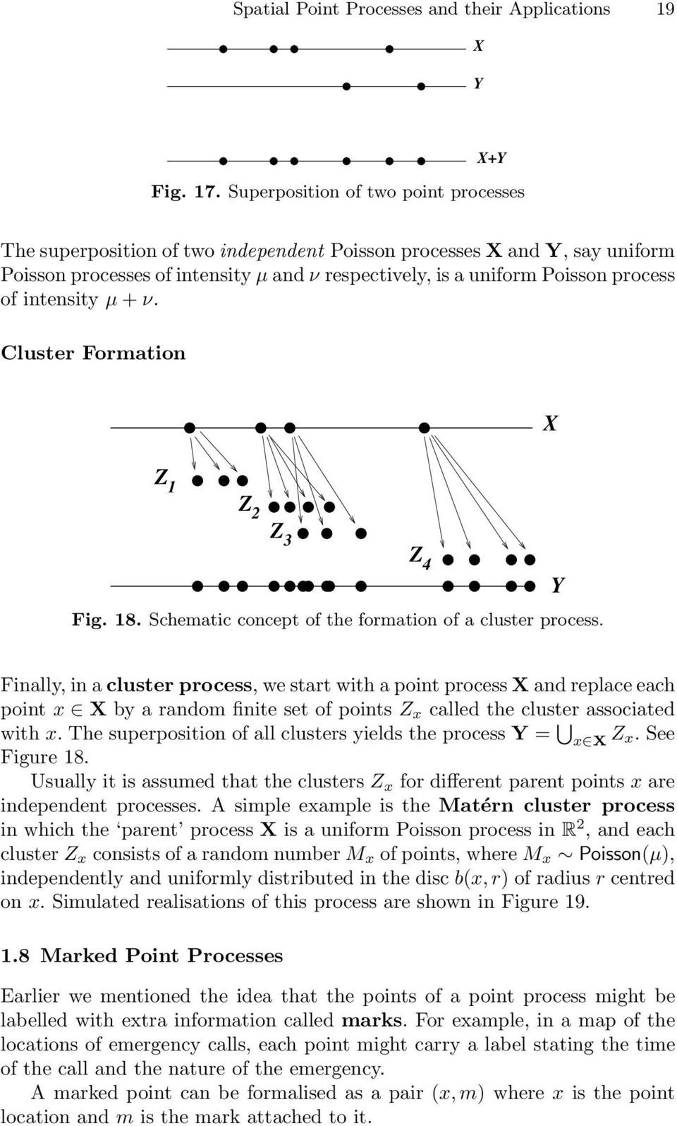 intensity µ + ν. Cluster Formation X Z 3 Z 4 Fig. 18. Schematic concept of the formation of a cluster process.