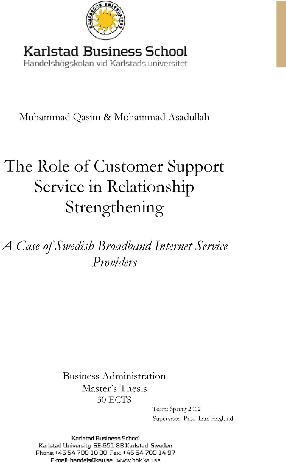 Broadband Internet Service Providers Business Administration