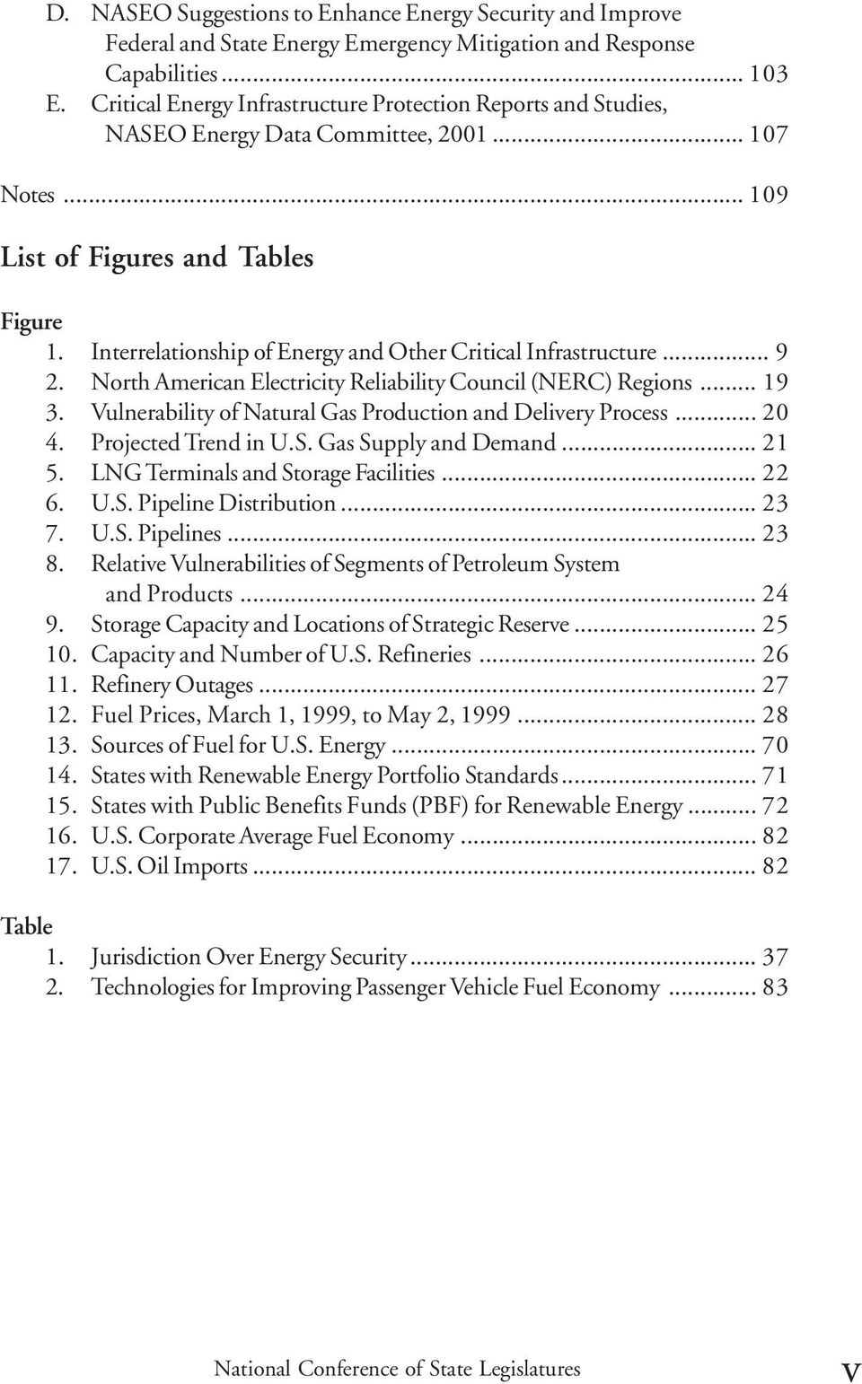 Interrelationship of Energy and Other Critical Infrastructure... 9 2. North American Electricity Reliability Council (NERC) Regions... 19 3.