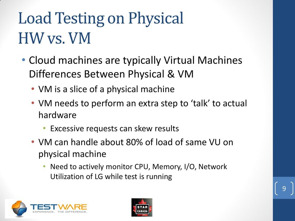 a physical machine VM needs to perform an extra step to talk to actual hardware Excessive requests