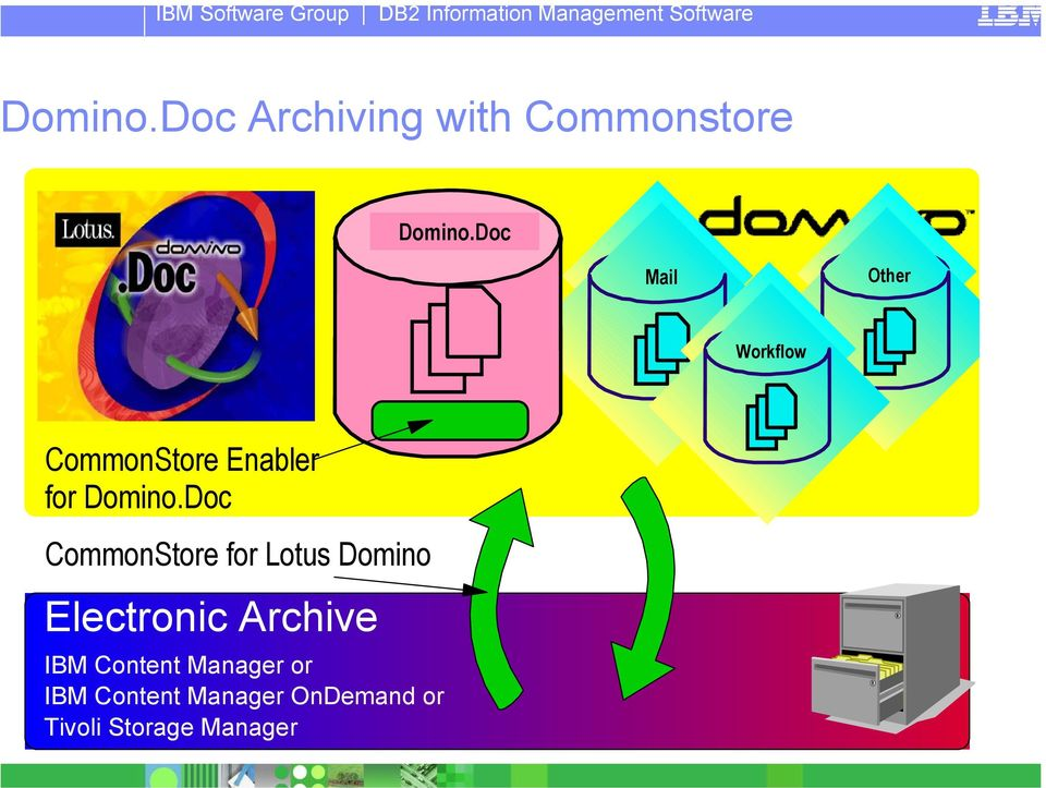 Doc CommonStore for Lotus Domino Electronic Archive IBM